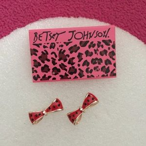 Special Spotty Pink Bow Earrings